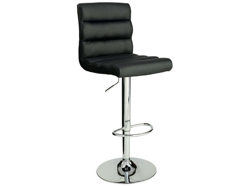 Tabouret de bar city coloris noir vente de bar et for Tabouret haut de cuisine
