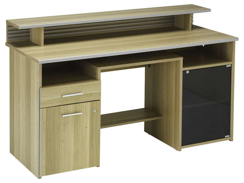 Mobilier table conforama meuble bureau for Meuble bureau verre conforama