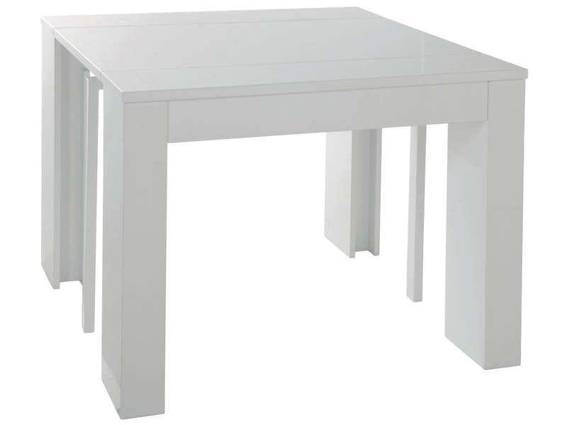 But console extensible table console extensible rallonge for Table blanche conforama