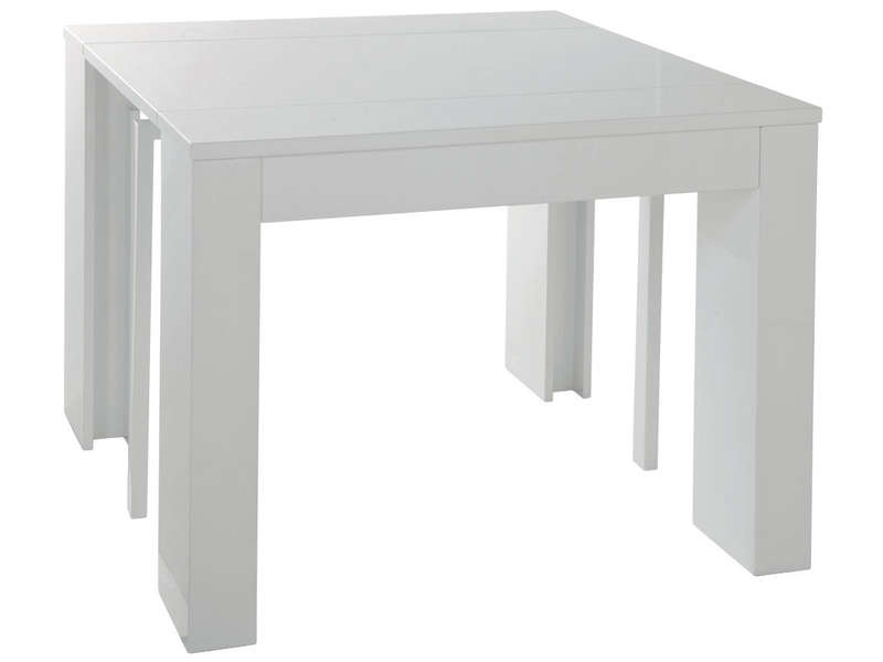 But console extensible table console extensible rallonge for Table salle a manger extensible conforama