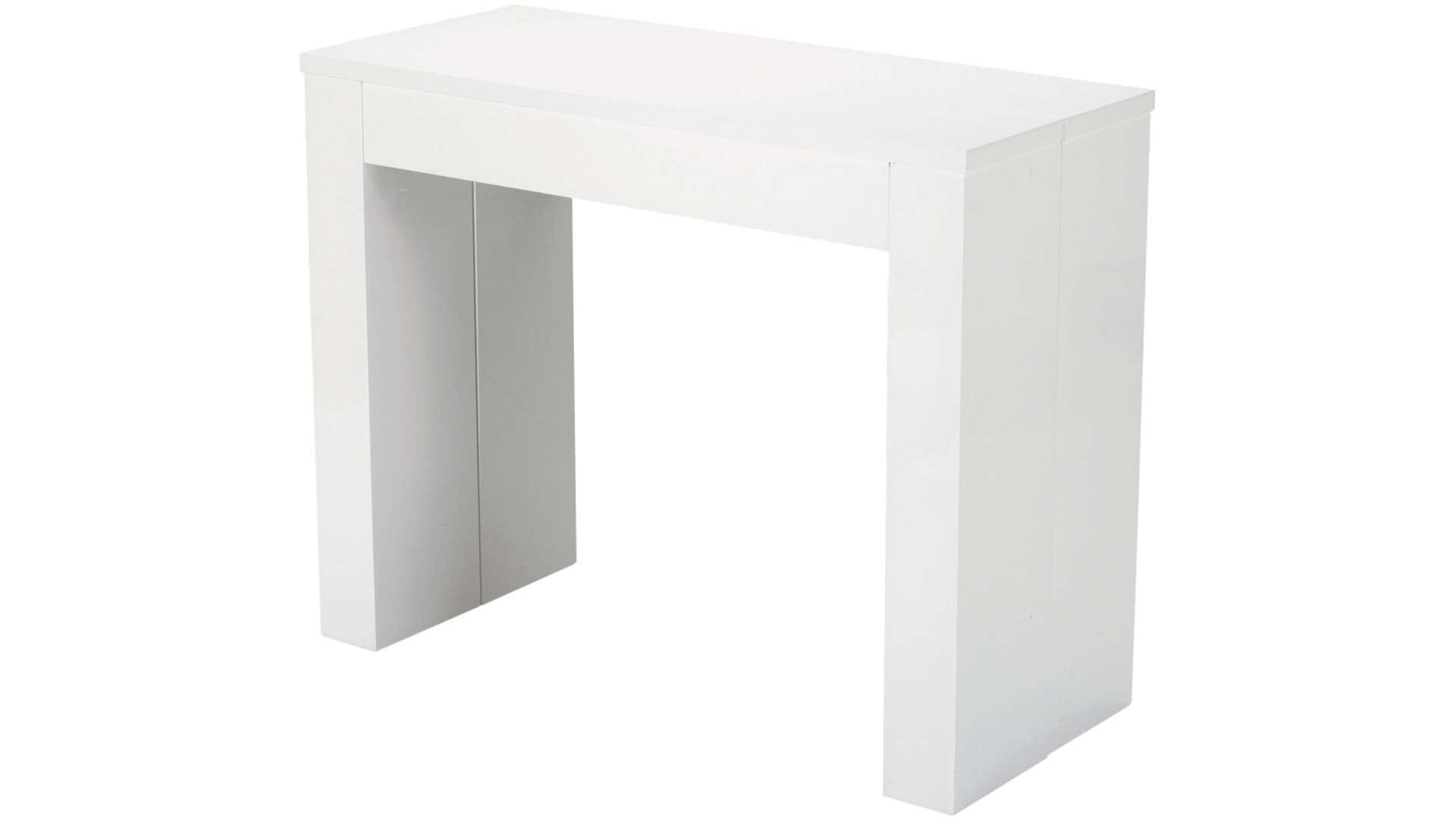 Console extensible conforama blanche table de lit for Table blanche conforama