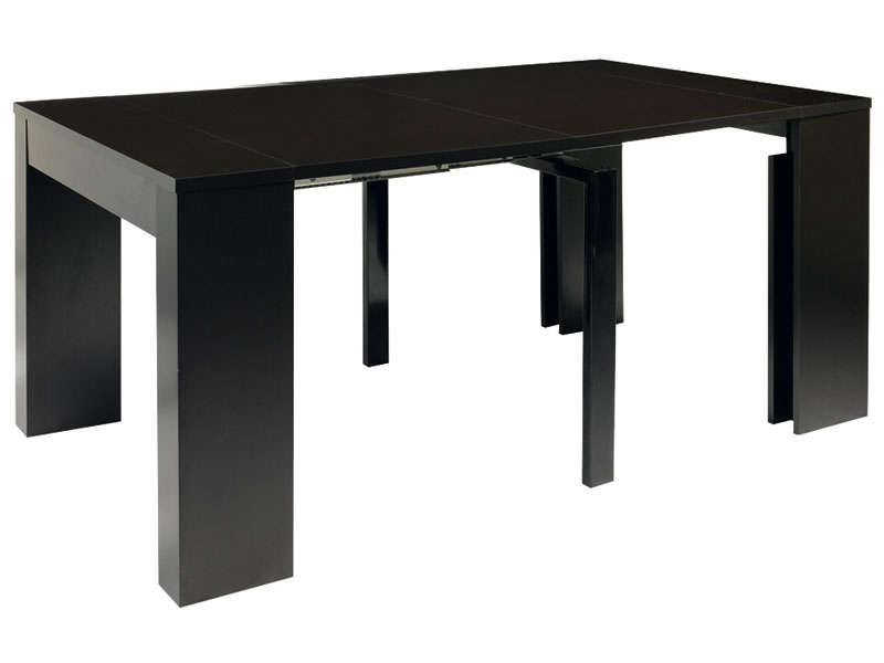 console extensible cm max peninsule coloris noir. Black Bedroom Furniture Sets. Home Design Ideas