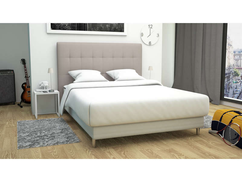 t te de lit 162 5 cm capri coloris taupe vente de t te. Black Bedroom Furniture Sets. Home Design Ideas