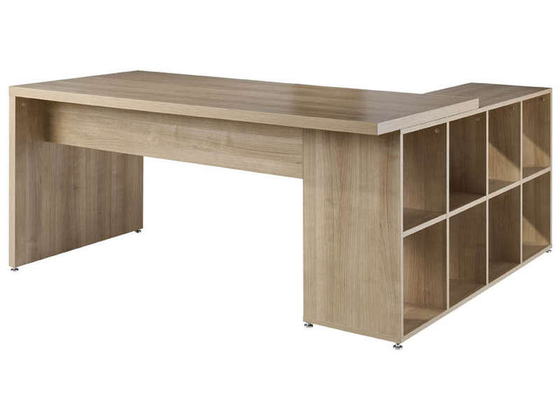 Bureau 180 cm retour sofy coloris nocc vente de for Bureau jeugd en media