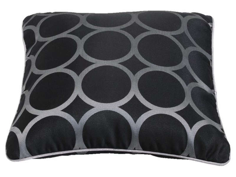 coussin circle jac coloris noir vente de coussin et housse de coussin conforama. Black Bedroom Furniture Sets. Home Design Ideas
