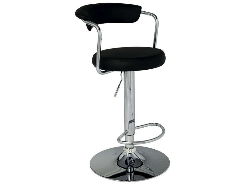 tabouret de bar janet coloris noir vente de bar et. Black Bedroom Furniture Sets. Home Design Ideas