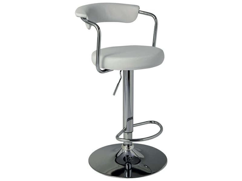 tabouret de bar janet coloris blanc vente de bar et. Black Bedroom Furniture Sets. Home Design Ideas