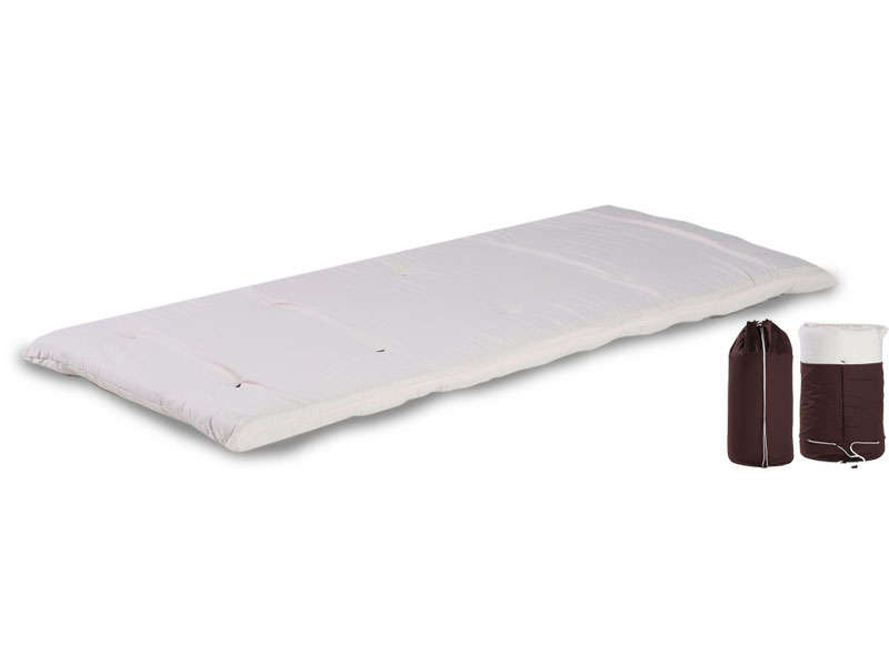 matelas futon ouate 80x190 cm bed in bag coloris cru. Black Bedroom Furniture Sets. Home Design Ideas