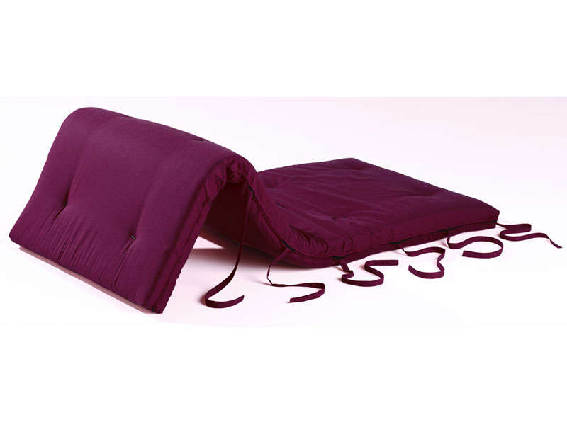 matelas futon ouate 80x190 cm coloris aubergine vente de lit d 39 appoint et matelas gonflable. Black Bedroom Furniture Sets. Home Design Ideas