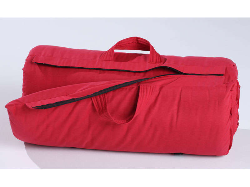 matelas futon de voyage 70 x190 cm coloris rouge vente. Black Bedroom Furniture Sets. Home Design Ideas