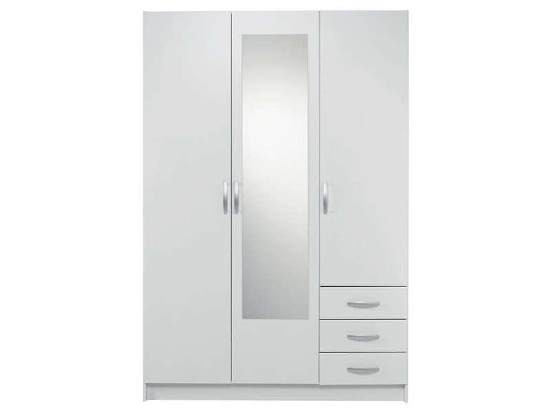 top armoire portes tiroirs spot coloris blanc vente de armoire conforama with lit placard conforama. Black Bedroom Furniture Sets. Home Design Ideas