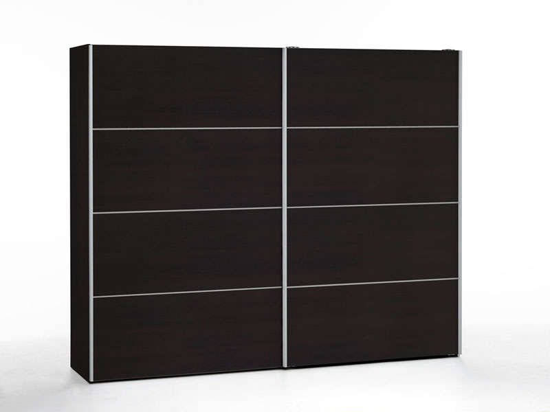 armoire 2 portes coulissantes 240 cm verona coloris caf vente de armoire conforama. Black Bedroom Furniture Sets. Home Design Ideas