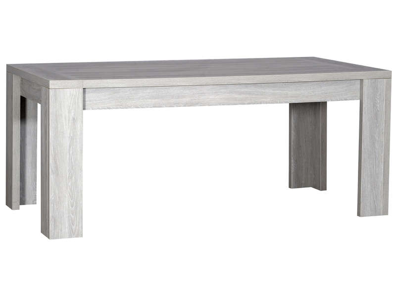 Table rectangulaire avec 2 allonges for Salle a manger grise conforama