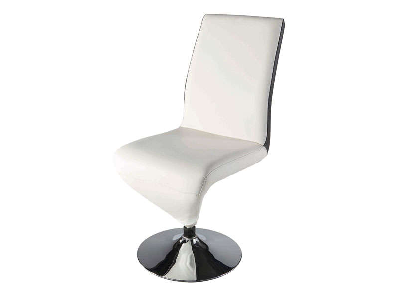Chaise pied central conforama meuble de salon contemporain for Chaise blanche conforama