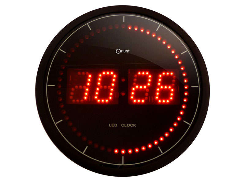 horloge 30 cm led led vente de horloge conforama. Black Bedroom Furniture Sets. Home Design Ideas