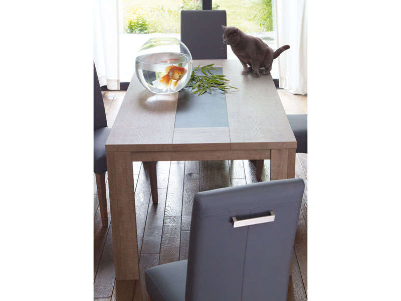 Table Rectangulaire 180 Cm Allonge En Option Brest Coloris Chene