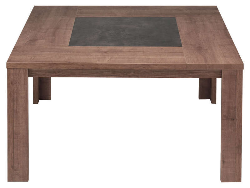 Table carr e 140 cm brest coloris ch ne vente de table for Table carree 8 personnes avec rallonge