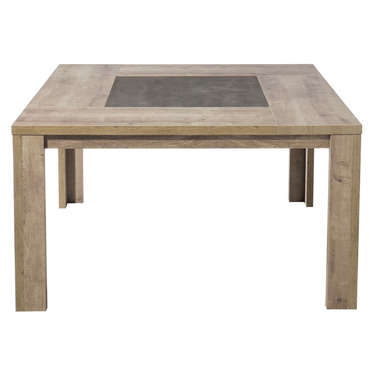 Table carr e 140 cm brest coloris ch ne vente de table - Table de sejour carree ...