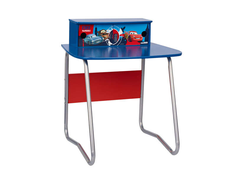 Bureau junior cars 2 tiroirs cars coloris bleu vente de for Bureau junior