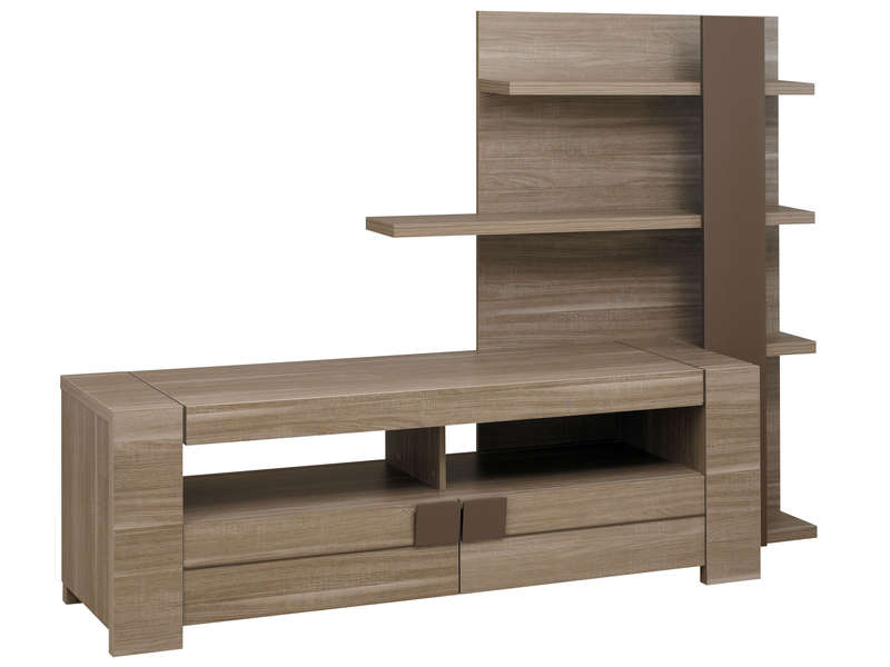 meuble tv 182 cm atlanta coloris ch ne fusain vente de meuble tv conforama. Black Bedroom Furniture Sets. Home Design Ideas