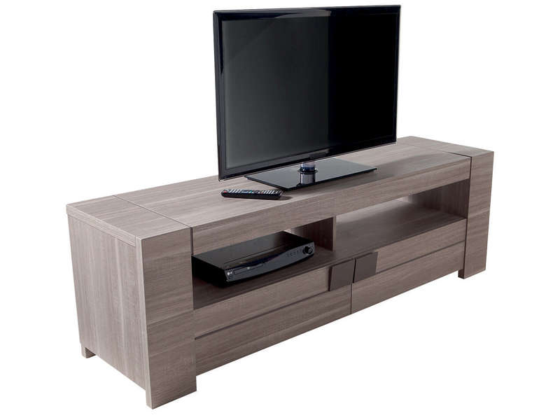 meuble tv 182 cm atlanta coloris ch ne fusain vente de. Black Bedroom Furniture Sets. Home Design Ideas
