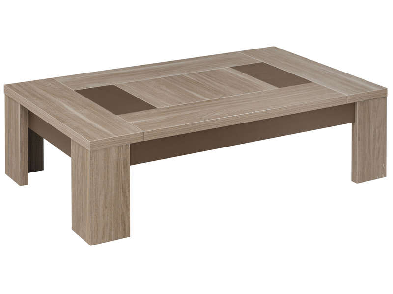 Table basse rectangulaire atlanta coloris ch ne fusain for Table de jardin conforama