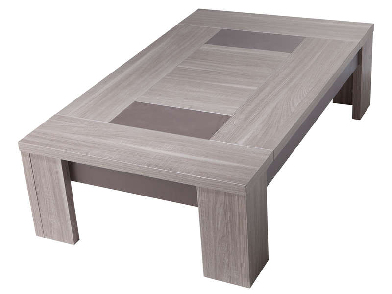 Table basse rectangulaire atlanta coloris ch ne fusain for Table sejour conforama