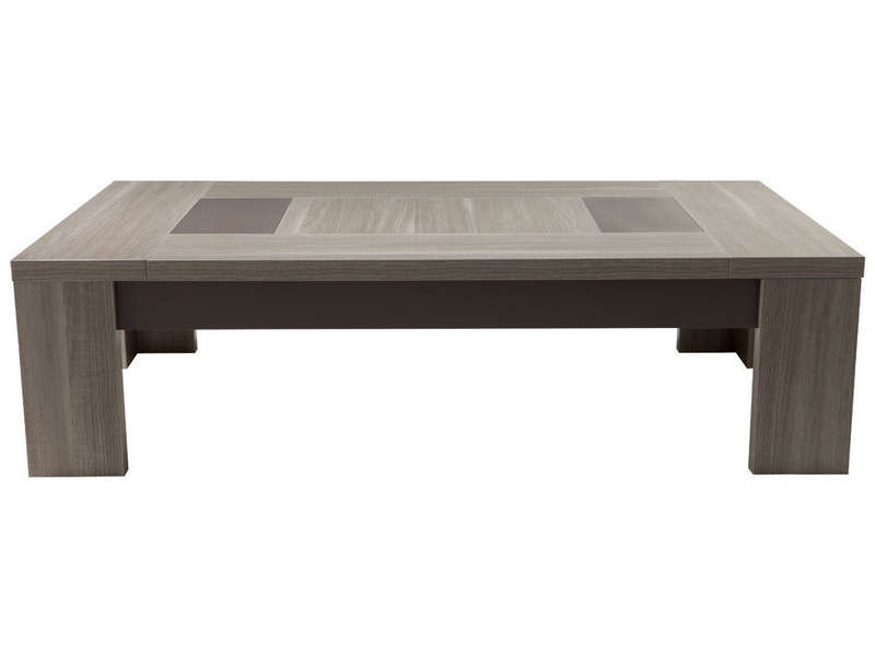 Table Basse Rectangulaire Atlanta Coloris Ch Ne Fusain Vente De Table Basse Conforama
