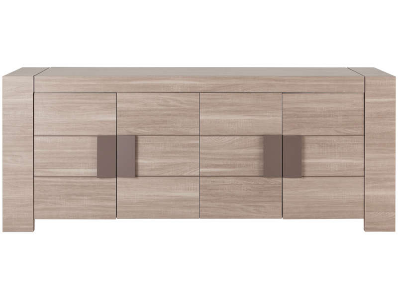 Buffet 4 portes atlanta coloris bois vente de buffet for Solde meuble de salon