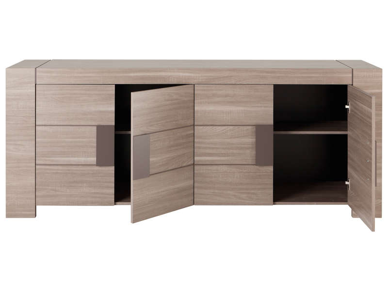Buffet 4 portes atlanta coloris bois vente de buffet for Monsieur meuble canape avis