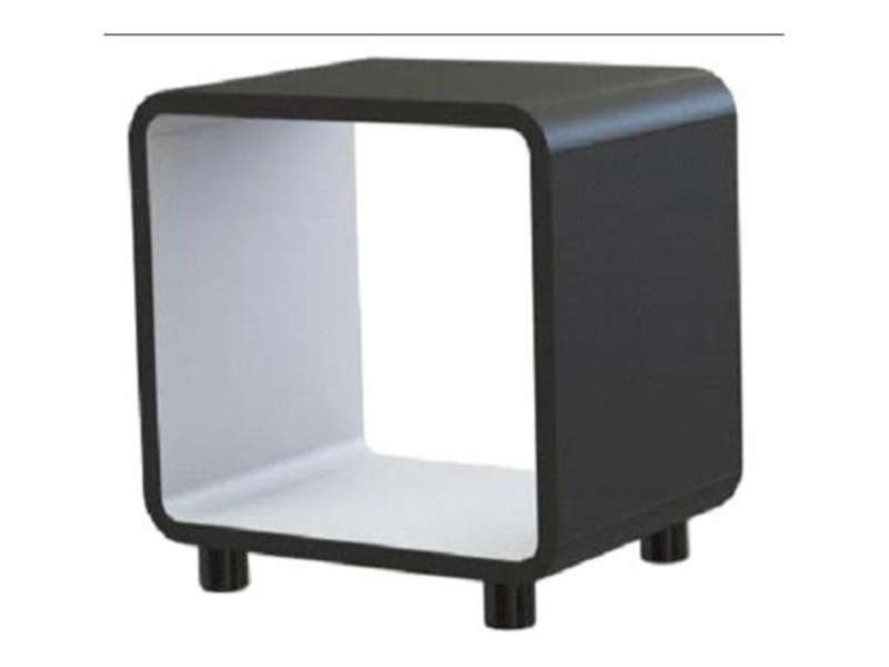 Chevet boxi coloris noir blanc vente de chevet conforama for Table de nuit grise