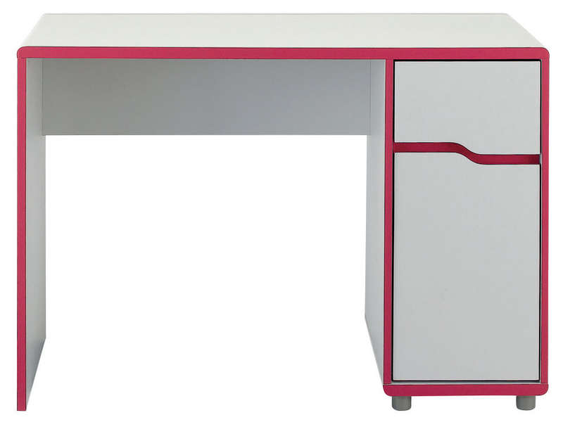 bureau moby blanc fuchsia vente de bureau enfant conforama. Black Bedroom Furniture Sets. Home Design Ideas