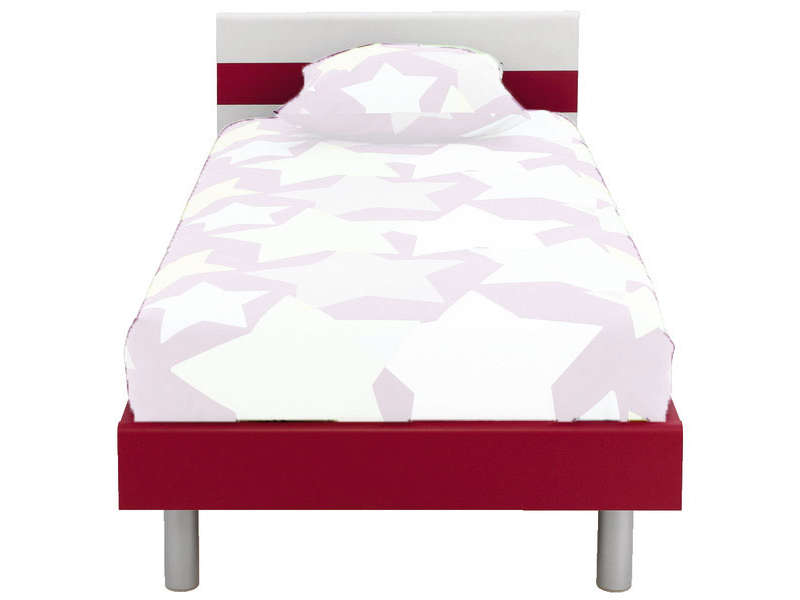 t te de lit moby coloris blanc fuchsia vente de t te de lit conforama. Black Bedroom Furniture Sets. Home Design Ideas