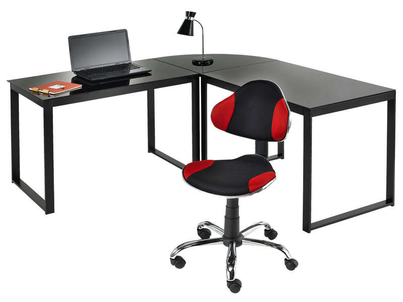 Bureau dangle blacky coloris noir vente de bureau conforama