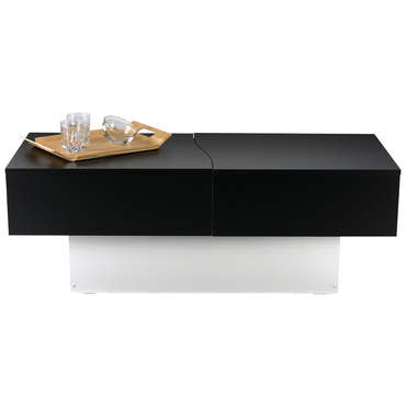 table basse city box coloris noirblanc vente de table basse conforama