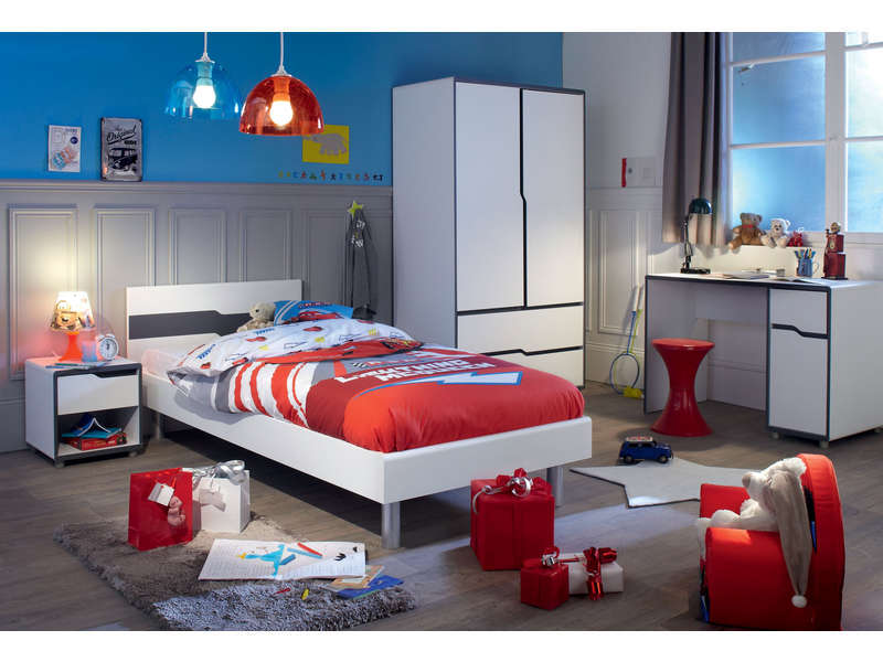 armoire 2 portes 2 tiroirs moby vente de armoire enfant conforama. Black Bedroom Furniture Sets. Home Design Ideas