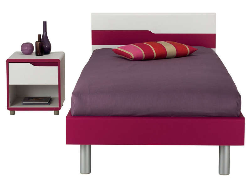Chambre fille gris et fushia vitry sur seine 18 gt for Chambre fushia orange