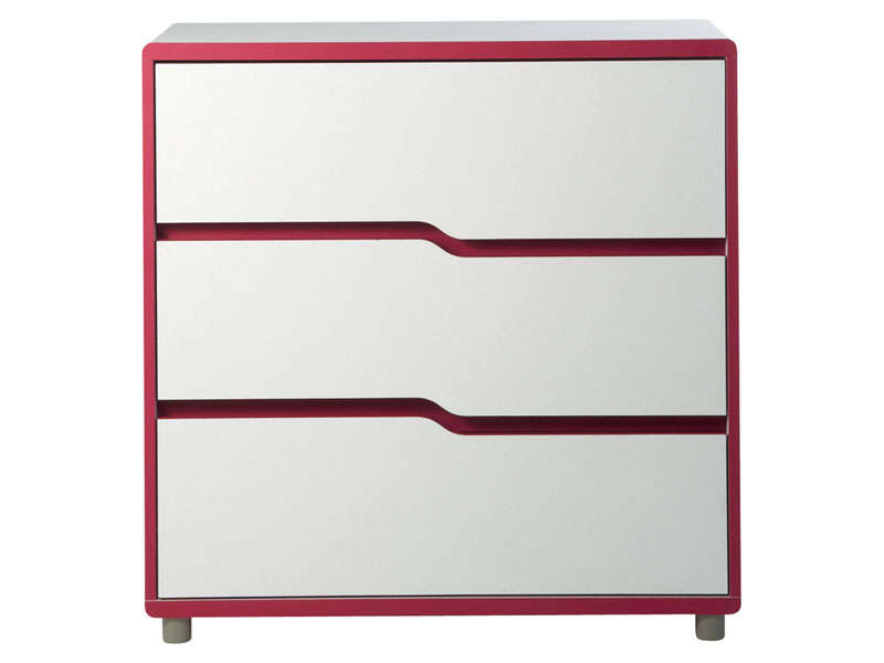 commode moby blanc fuchsia vente de commode enfant conforama. Black Bedroom Furniture Sets. Home Design Ideas