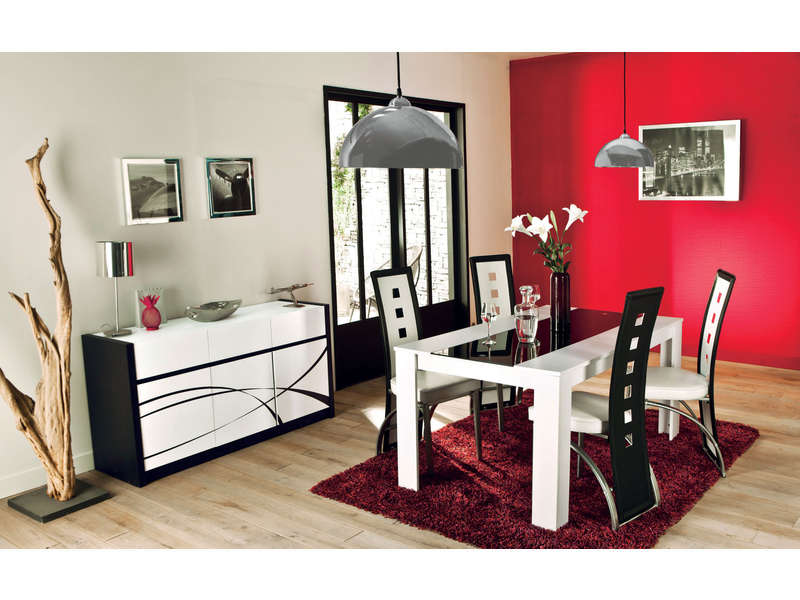 Buffet 3 portes dallas vente de buffet bahut for Salon salle a manger conforama