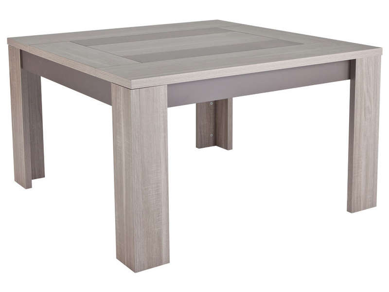 Table carree 140x140 avec rallonges mobilier table table for Table carree rallonge design