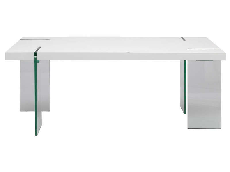 Table rectangulaire 190 cm - Table en verre conforama ...