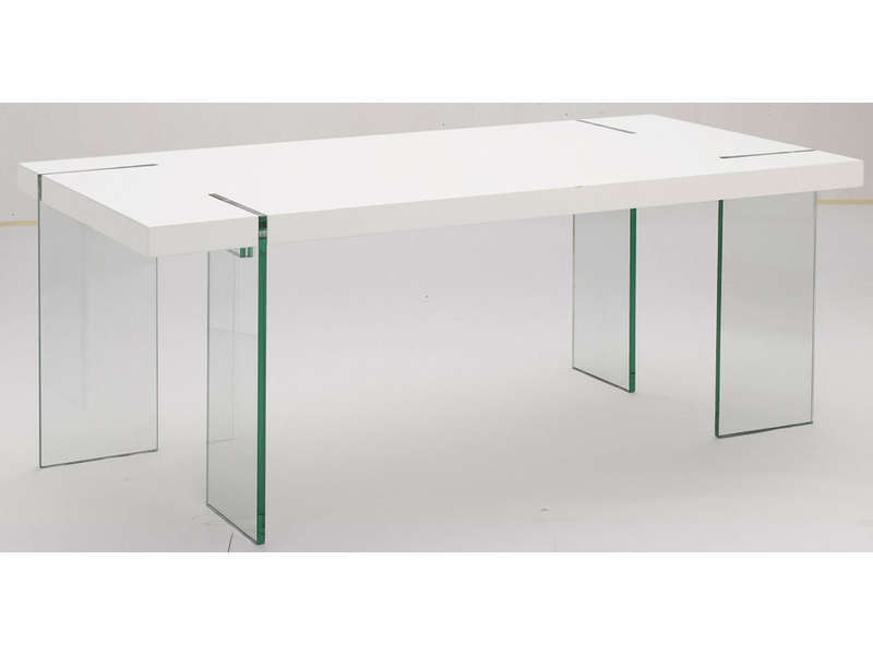 Table Rectangulaire 190 Cm Marbella Coloris Blancverre