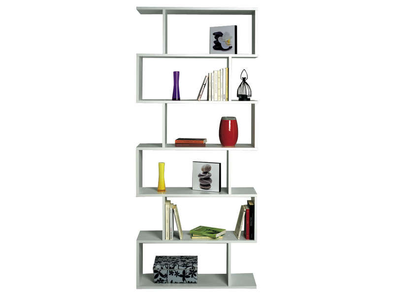 Biblioth que athena coloris blanc vente de biblioth que for Bureau 70 cm de large