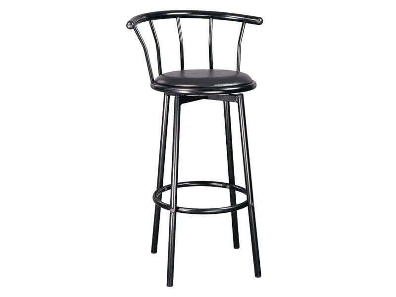 Tabouret de bar pivotant brice coloris noir vente de for Bar pivotant cuisine