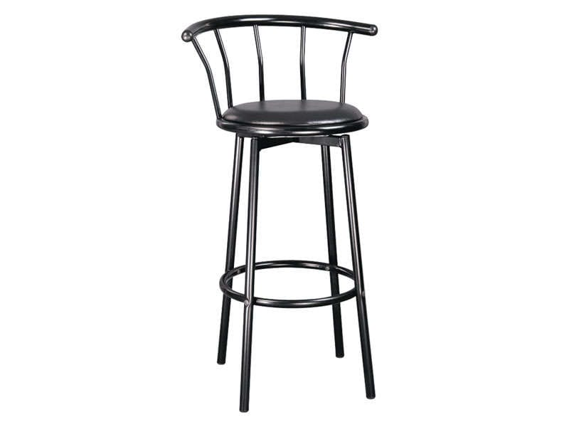 tabouret de bar pivotant brice coloris noir vente de chaise de jardin conforama. Black Bedroom Furniture Sets. Home Design Ideas