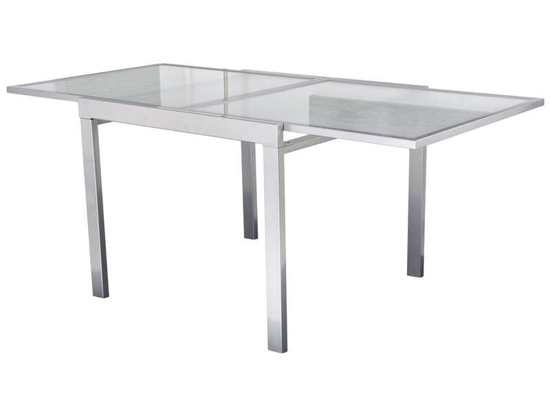 Table verre extensible conforama table de lit a roulettes for Table blanche conforama