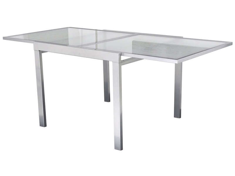Table verre extensible conforama table de lit a roulettes - Table extensible verre ...