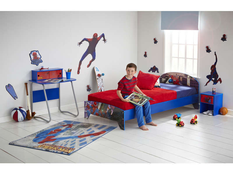 bureau junior 2 tiroirs spiderman vente de bureau enfant conforama. Black Bedroom Furniture Sets. Home Design Ideas