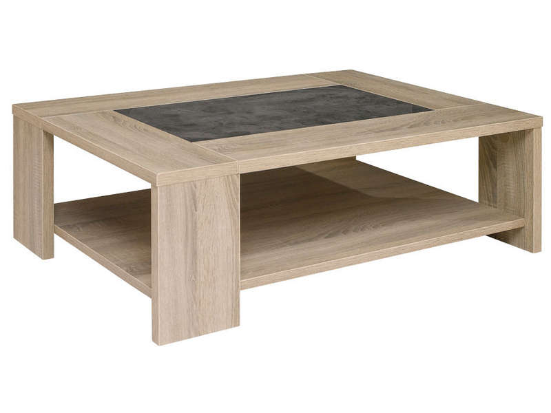 Table basse fumay vente de table basse conforama - Table de salon avec pouf ...