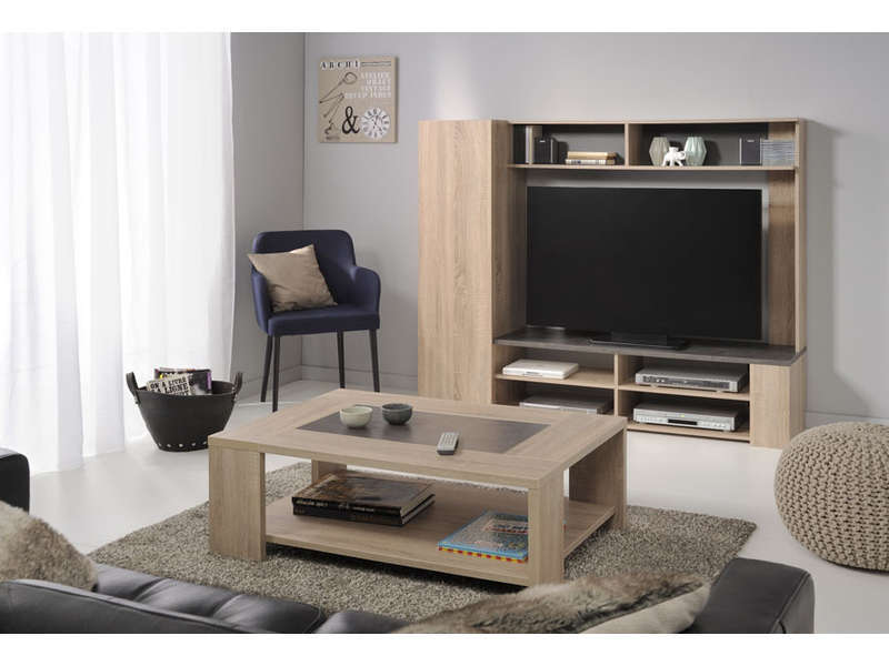 Table basse fumay vente de table basse conforama for Meubles conforama salon